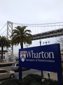 Sign for the Wharton San Francisco building