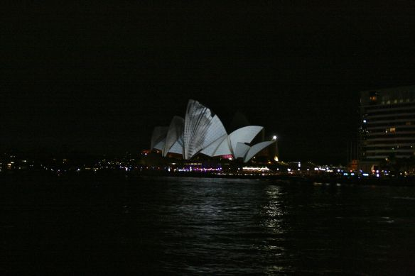 The Sydney Opera House lit up for VividSydney in 2012.