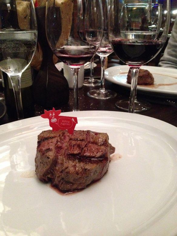My beef entree at Cabana Las Lilias.