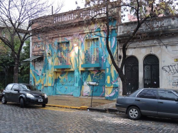 Beautiful colors on this building in Palermo SoHo, Buenos Aires.
