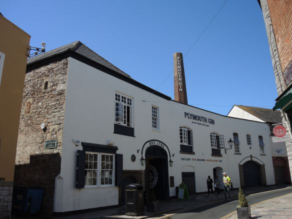 The Black Friars Distillery, where Plymouth Gin is made, in Plymouth, England.