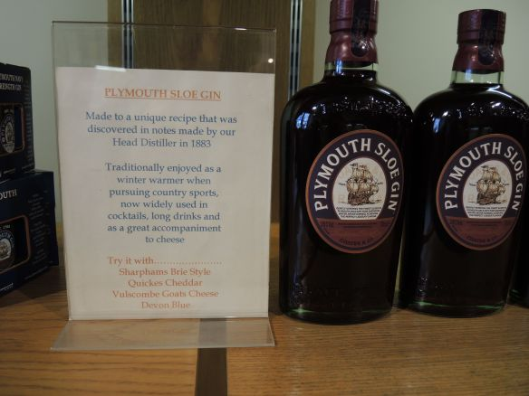 Plymouth Sloe Gin, according to the bartender, it is only available at the distillery.