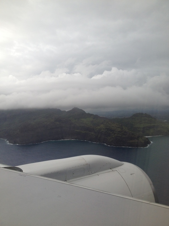 Arriving into Kauai, December 2013.