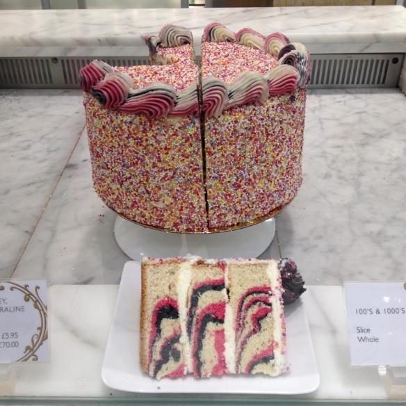 Marble cake at Harrod's.