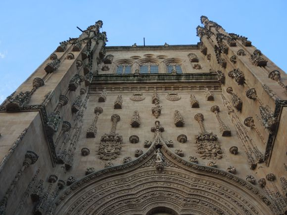 The cathedral is so big that it was hard to fit the top of it in the frame.