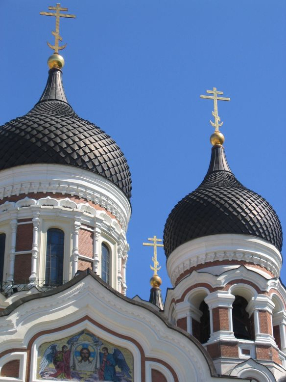 The domes of Alexander Nevsky Cathedral, Tallinn, Estonia.