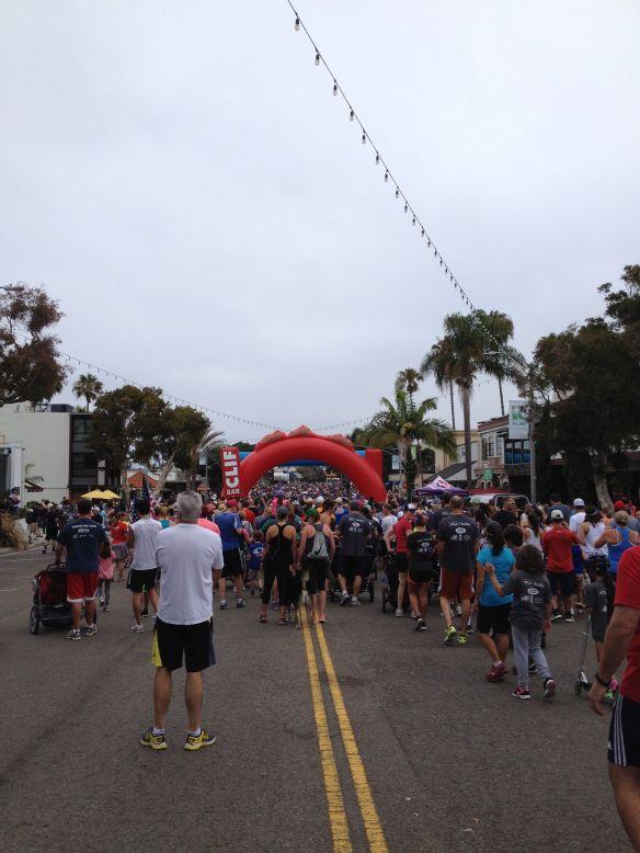 4th race starting