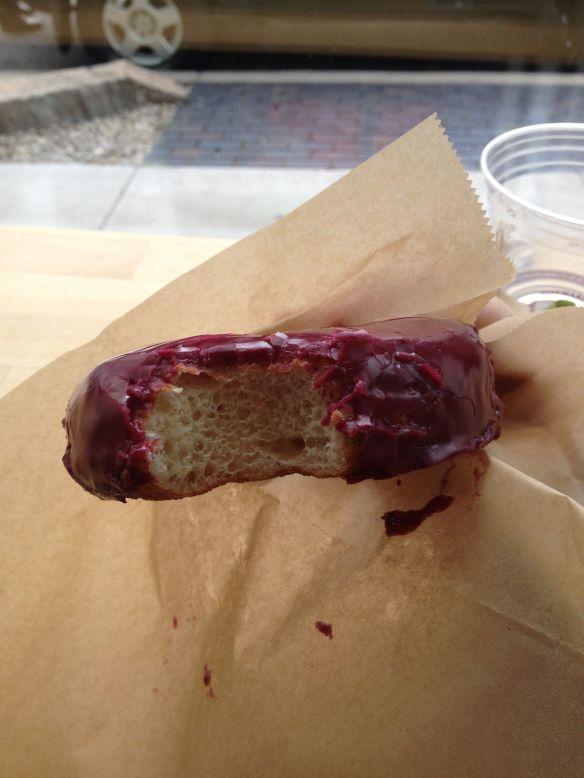 Blue Star Donuts' #blueberrybourbonbasil donut.