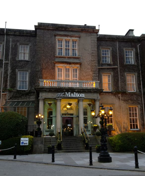Entrance to The Malton Hotel in Killarney, Ireland.
