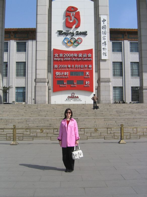 Countdown to the 2008 Beijing Summer Olympics in Tianamen Square