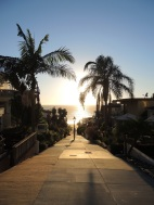 Heading down a walk street to The Strand, Manhattan Beach, October 30th.