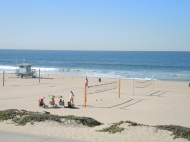 Beach life: surfers and beach volleyball, October 30th.
