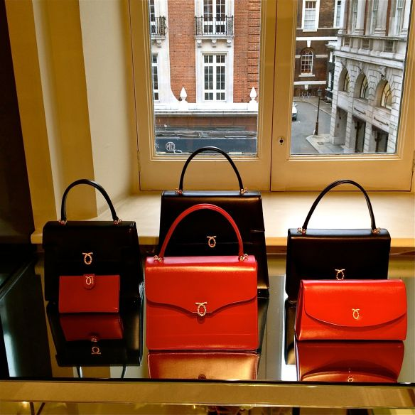 Launer handbags. I wish I took a picture of the two-tone styles - they were my favorite!