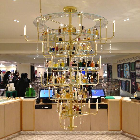 Perfume display at Fortnum and Mason