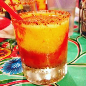The mango chamoy margarita at Gloria's