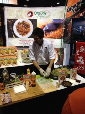 The OtaJoy pancake mix is available in Cost Plus World Market. This chef made samples for us to taste.
