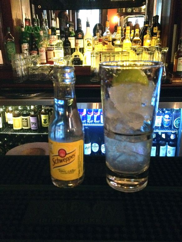 Shortcross Gin and tonic at The Garrick, Belfast.
