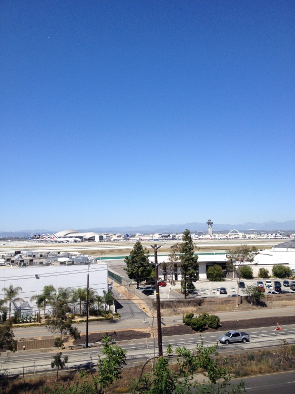 On Imperial Avenue in El Segundo looking over LAX