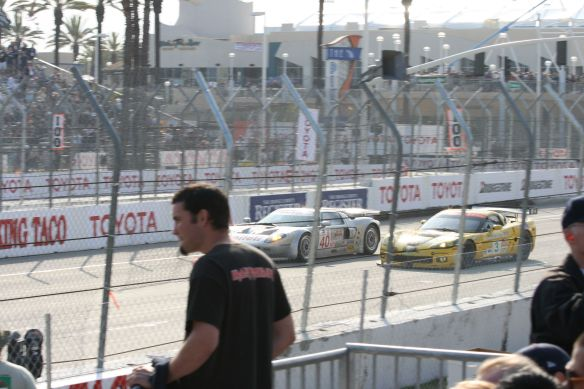 Racing Ford GT and a Corvette, 2008 (If only that guy was sitting!)