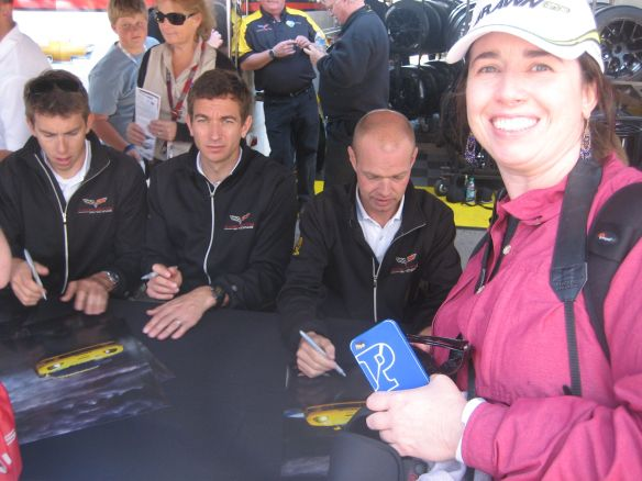 Autograph session in 2012 with Corvette Racing's xxx, Oliver Gavin and Jan Magnussen