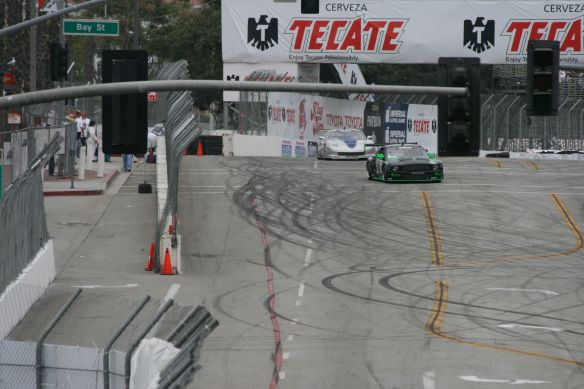Lots of skid marks on the streets of Long Beach, 2008
