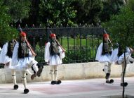Changing of the guards at the Presidential palace in Athens.