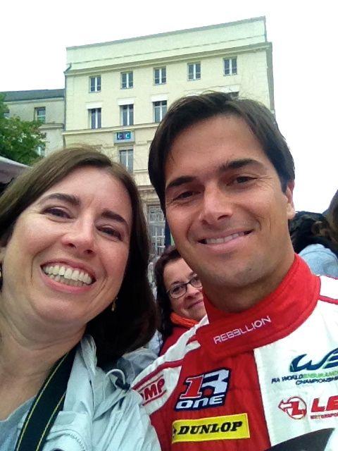 Nelson selfie Le Mans