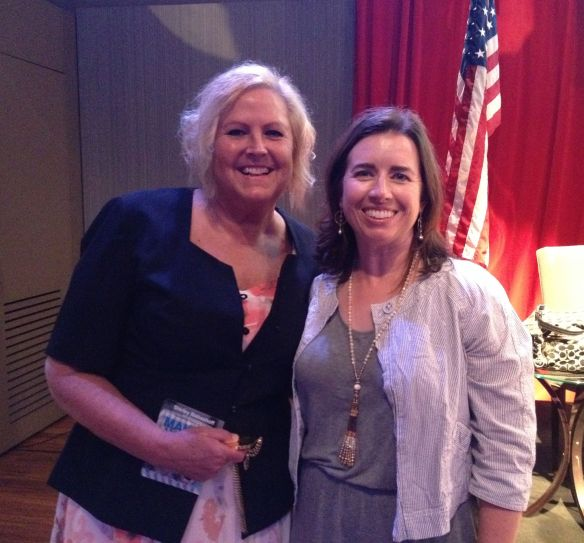 Olympian Shirley Babashoff poses with me.