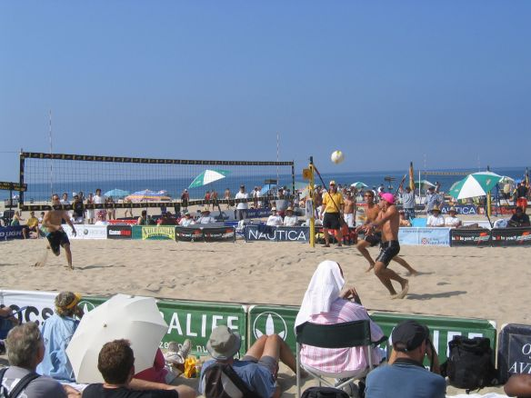 Karch Kiraly and Larry Witt play during the 2006 MB Open.