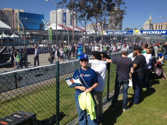 Supporting Nelson at the Long Beach ePrix