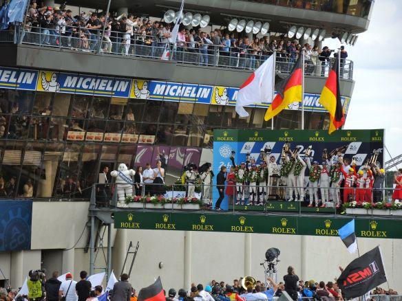 Nelson Le Mans podium