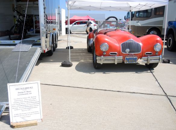 1952 Allard K2 at Coronado Speed Festival paddock