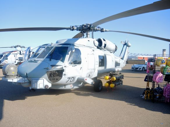 Naval helicopter at Naval Base Coronado during Fleet Week San Diego