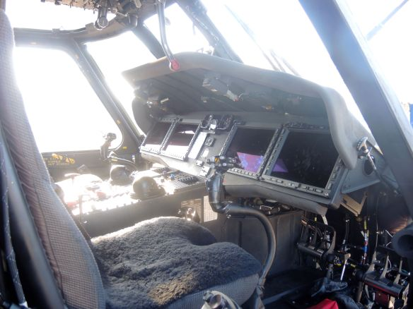 cockpit of naval helicopter MH-60 Seahawk on Naval Base Coronado during Fleet Week San Diego