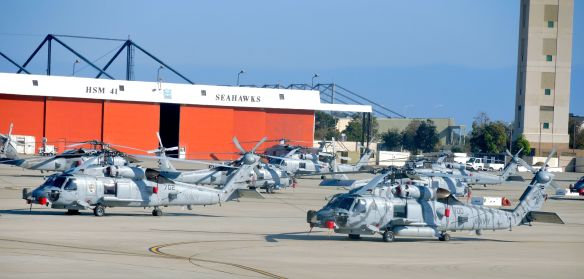 MH-60 Seahawk Naval Helicopters at Naval Base Coronado
