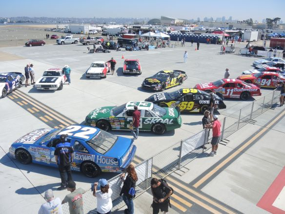 Sportscar Vintage Racing Association Group 10 cars on the grid at Coronado Speed Festival
