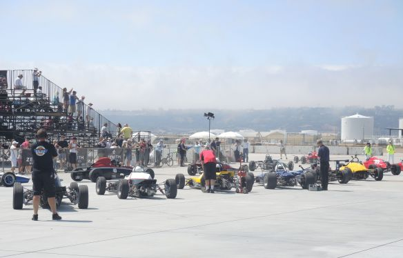 Sportcar Vintage Racing Association grid at Coronado Speed Festival