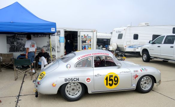A vintage Porsche at Coronado Speed Festival