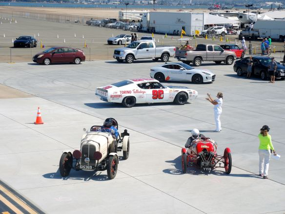 Pre-war race cars at Coronado Speed Festival