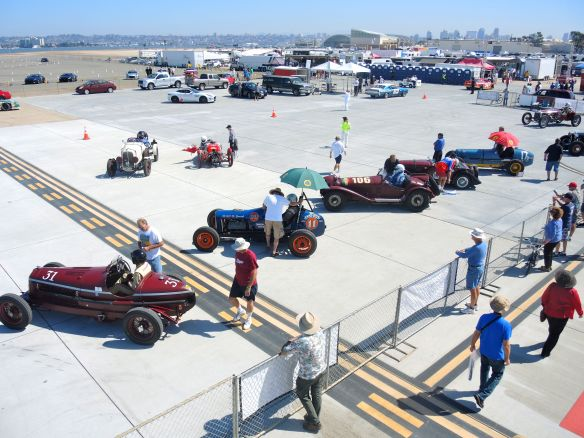 pre-war vintage race cars at Coronado Speed Festival