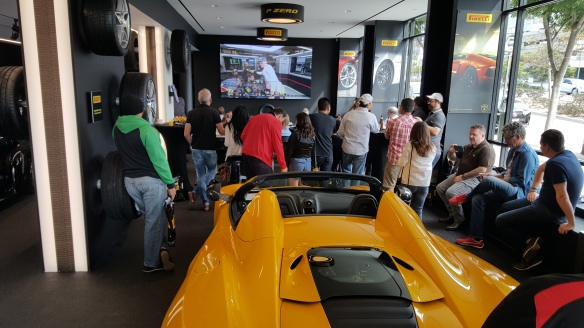 LA F1 Fans at Pirelli P Zero World to watch Formula 1