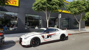 Nissan GTR Pirelli P Zero World LA F1 fans viewing