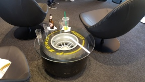 Pirelli P Zero World table LA F1 fans viewing