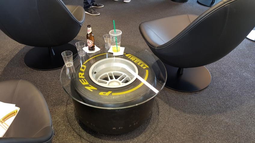 Pirelli P Zero World table LA F1 fans viewing