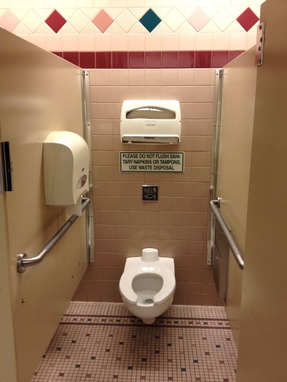 COS Colorado Springs airport bathroom disabled stall