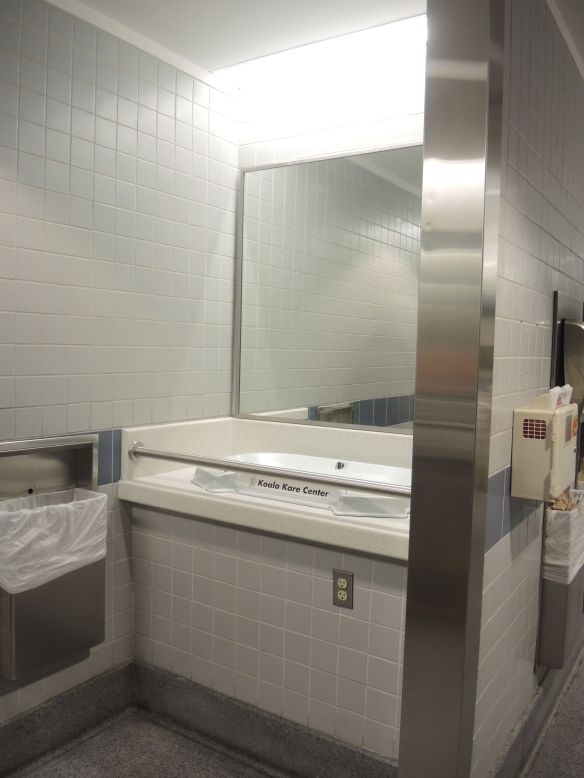 DEN Denver airport bathroom baby changing station