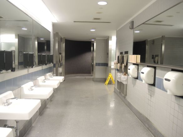 DEN Denver airport bathroom sinks and hand dryers