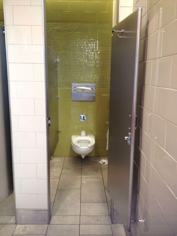 PHL Philadelphia airport bathroom stall