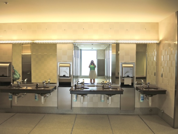 CLT Charlotte airport bathroom sinks