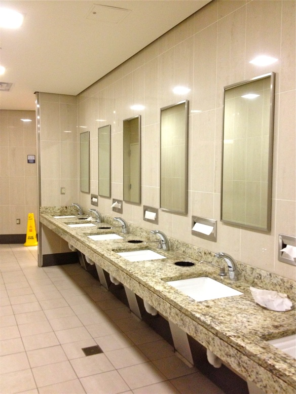 IAD Washington Dulles airport bathroom sinks
